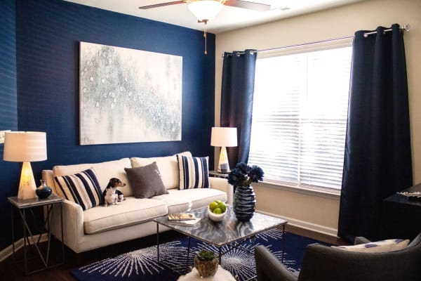 Apartments with a living room in Fort Mill SC at Berkshire Fort Mill