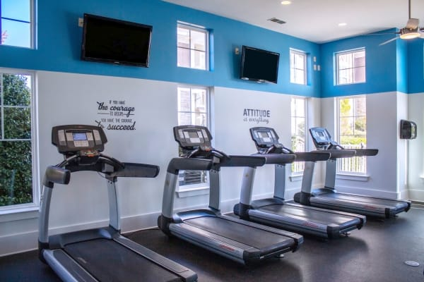 Treadmills featured at the fitness center at Berkshire Fort Mill in Fort Mill SC