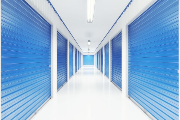 Row of Indoor storage units at Mini Storage Depot in Chattanooga, Tennessee