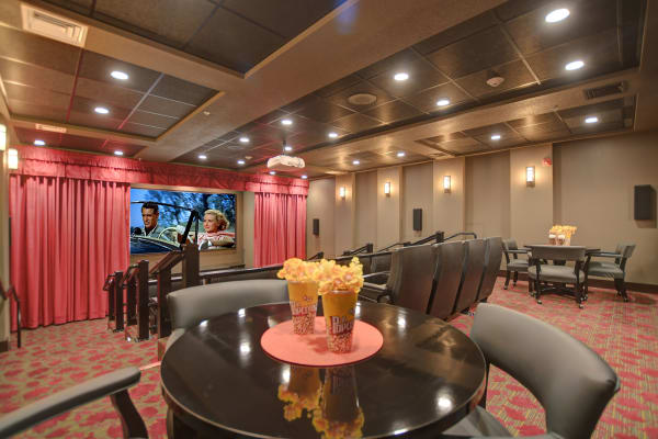 The community theater at The Savoy Gracious Retirement Living in Winter Springs, Florida