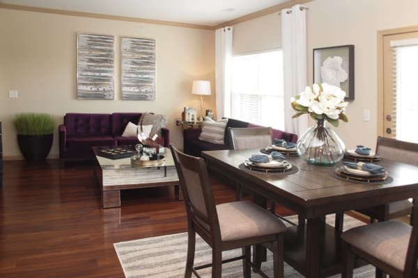 Palmera Apartments offers spacious dining rooms & living rooms