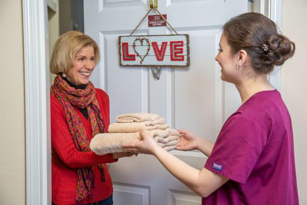 Resident and housekeeper at Hessler Heights Gracious Retirement Living in Leesburg, Virginia