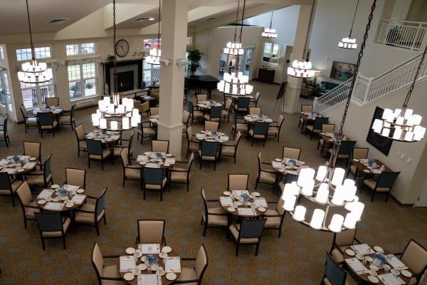 Dining room at Capitol Ridge Gracious Retirement Living in Bristow, Virginia