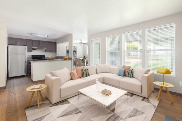 Living Room at Meadows at Cascade Park Apartments in Vancouver,
