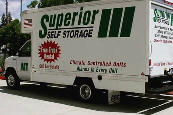 Free moving trucks available at Superior Self Storage in El Dorado Hills, California