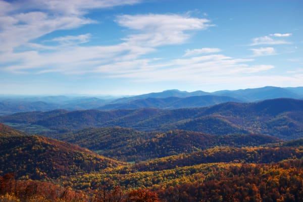 View of the Shenandoah Valley near Harrisonburg in Virginia
