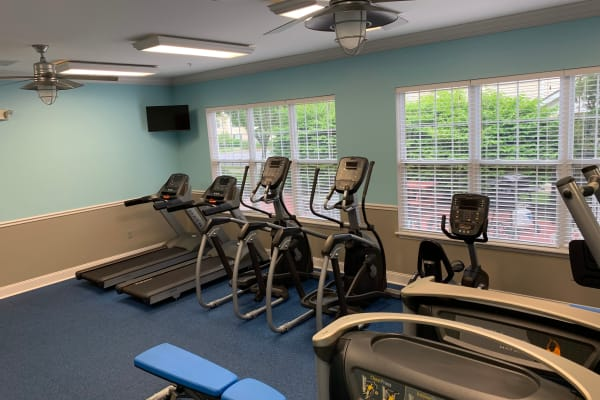 Fitness center at The Landings Apartments in Clifton Park, New York