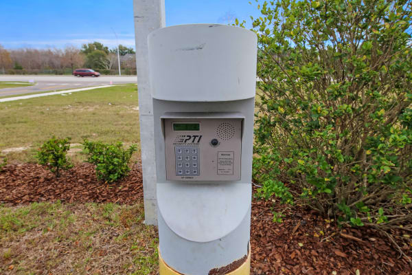Keypad for entry into My Neighborhood Storage Center in Orlando, Florida
