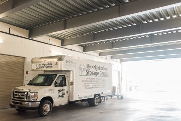 One of our moving trucks at My Neighborhood Storage Center in Windermere, Florida