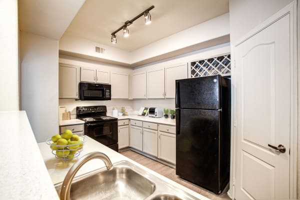 Kitchen model in home at The Sterling in Gilbert, Arizona