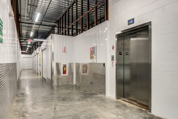Clean interior and Elevator access at Metro Self Storage in Monmouth Junction, NJ