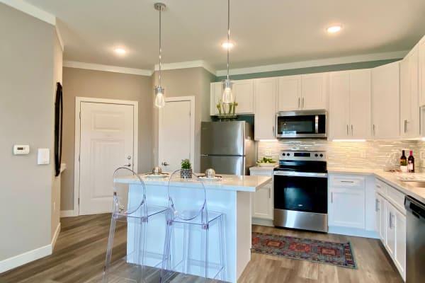 Beautiful kitchen with breakfast bar at Greyson on 27 in Nicholasville, Kentucky
