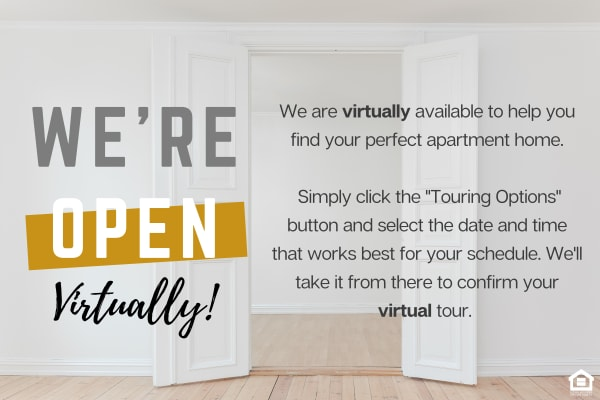 We're open virtually