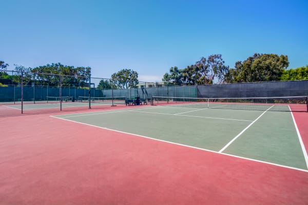 Tennis courts at Mariners Village in Marina del Rey, California
