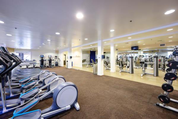 Fitness center at Mariners Village in Marina del Rey, California