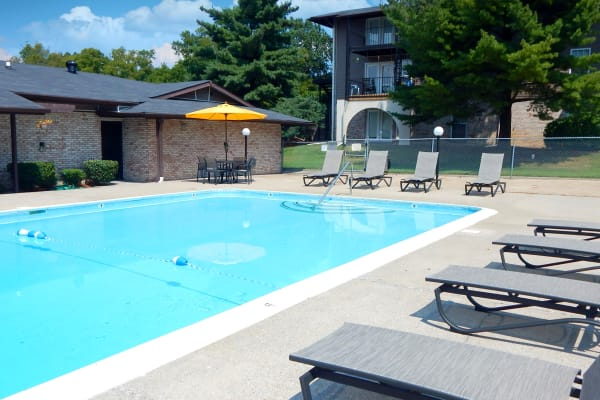 Beautiful swimming pool at The Village at Crestview in Madison, Tennessee