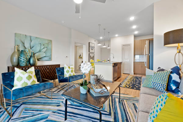 Living room at McCarty Commons in San Marcos, Texas