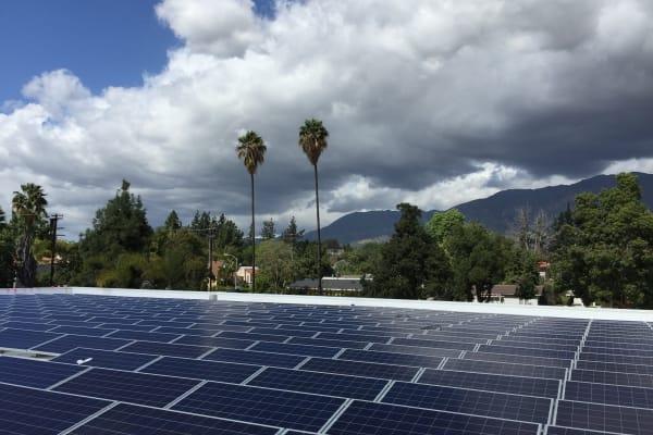 Solar panels at STORBOX Self Storage in Pasadena, California