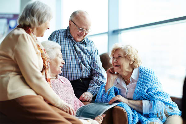 Happy Adult Day Care residents of Pinnacle Senior Living