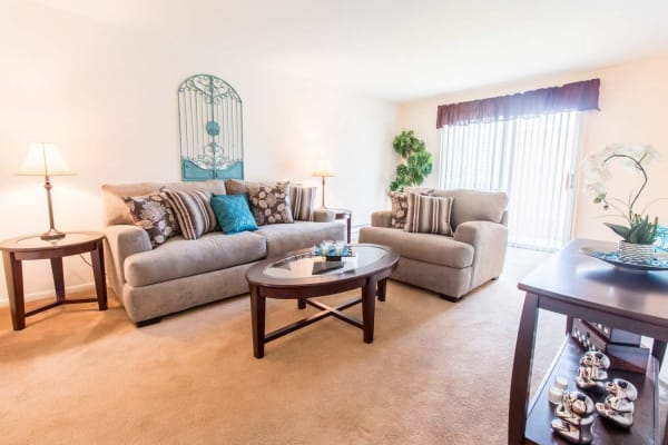 Plenty of space for storage in a model apartment home at Silver Lake Manor in Clementon, New Jersey