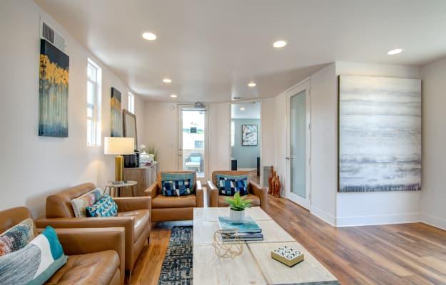 Exterior view of our beautiful apartments at Villas at Carlsbad in Carlsbad, CA
