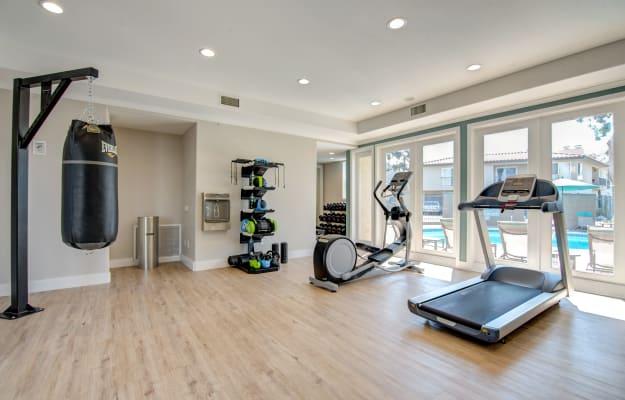Modern fitness center at Villas at Carlsbad in Carlsbad, CA