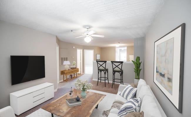 Living Room at Kannan Station Apartment Homes in Kannapolis, North Carolina