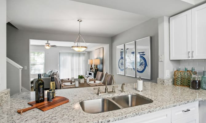 Spacious Kitchen at our townhomes in Naples