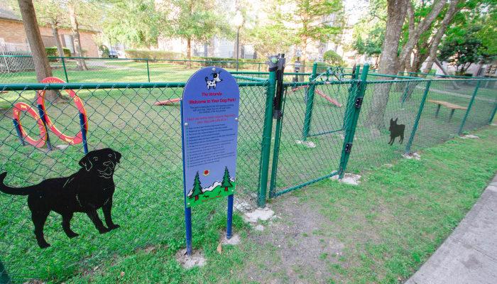 dog park at Veranda in Texas City, Texas