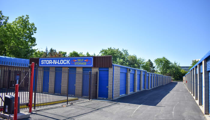 Wide driveways and gated access at a STOR-N-LOCK Self Storage location