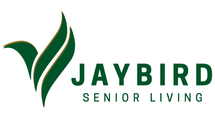Jaybird Senior Living logo at Arlington Place of Red Oak in Red Oak, Iowa