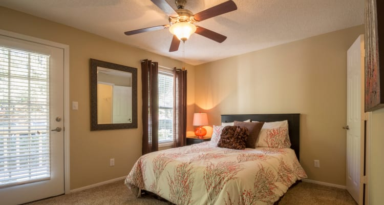Lovely model bedroom at Summerchase at Riverchase in Hoover, Alabama