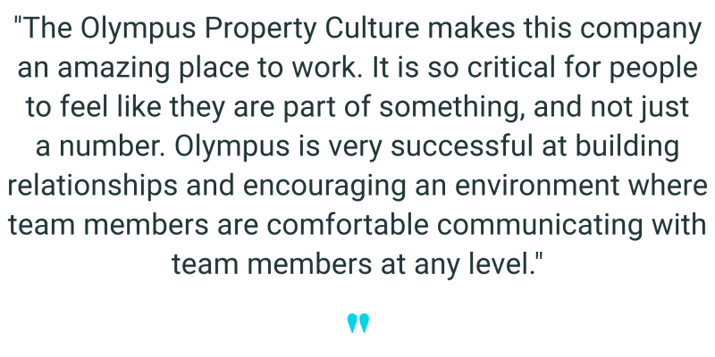 Employee quote 4 from Olympus Property in Fort Worth, Texas
