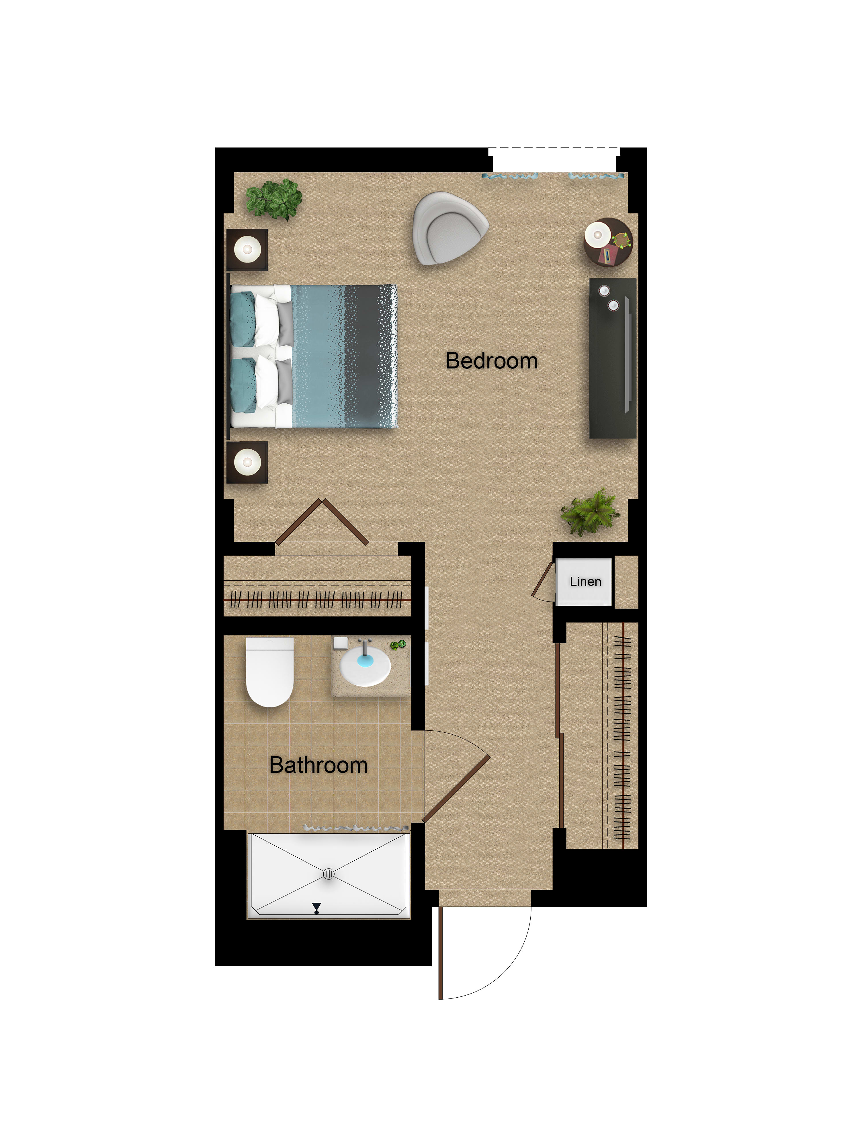 Private Memory Support floor plan at Sage Glendale in Glendale, California
