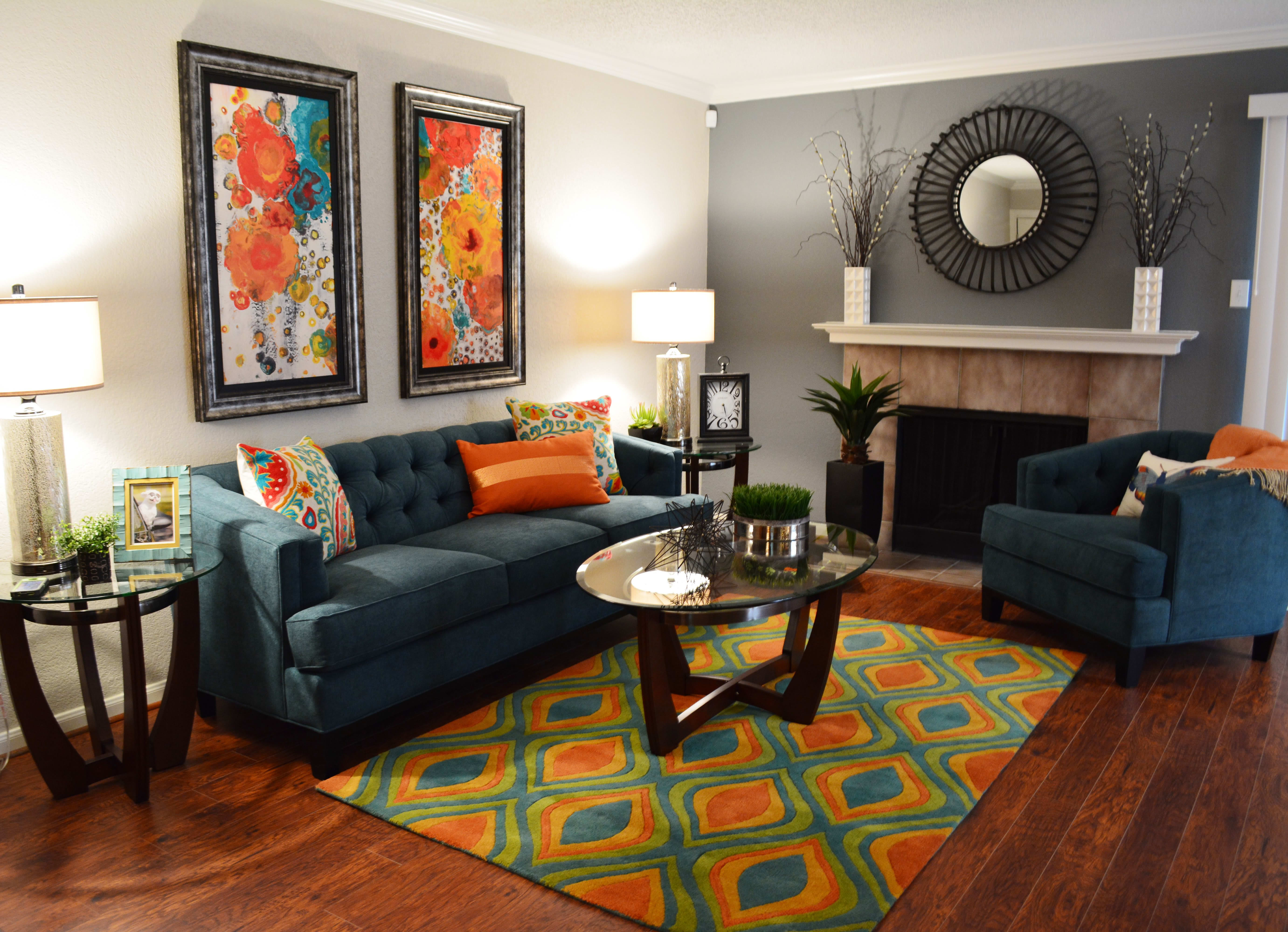 Spacious living room at The Abbey at Copper Creek in San Antonio