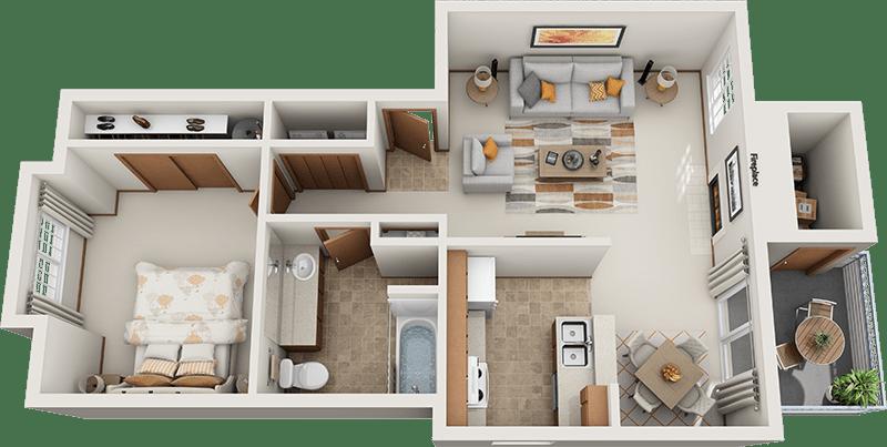 Arbor Square Apartments Madison 1 Bedroom Floor Plan