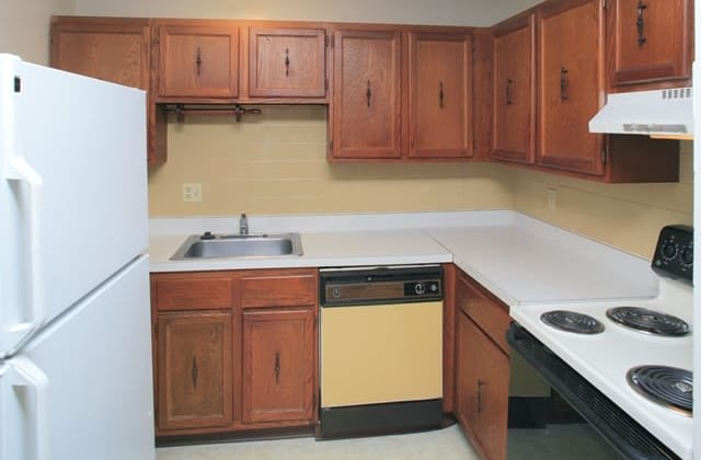 Enjoy apartments with a kitchen at Security Manor