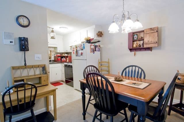Kitchen Dining Room Combo at Talbot Woods Apartments in Middleboro, MA