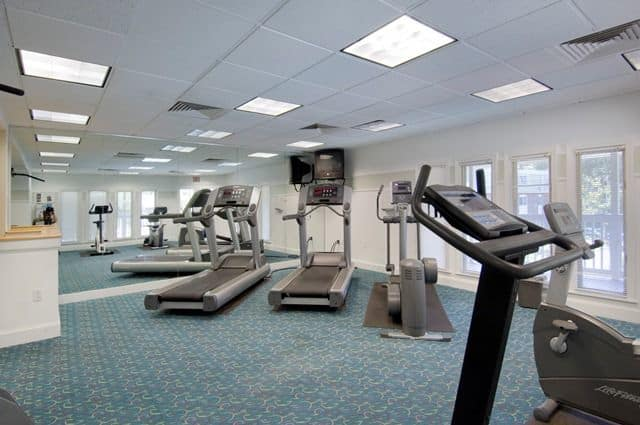 Talbot Woods Apartments offers a fitness center in Middleboro, MA