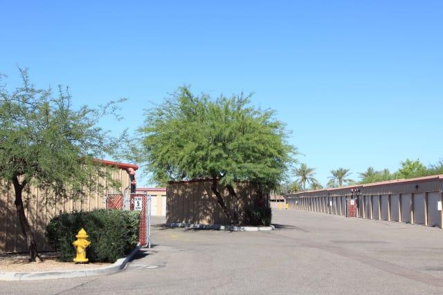 Wide driveways at Advantage Storage - Surprise in Surprise, Arizona