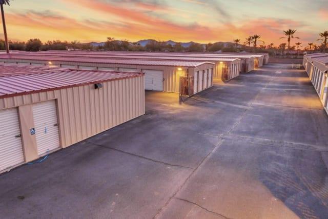 Units at dusk at Advantage Storage - Surprise in Surprise, Arizona