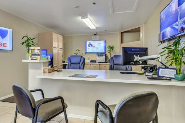 Office desk at Advantage Storage - Surprise in Surprise, Arizona