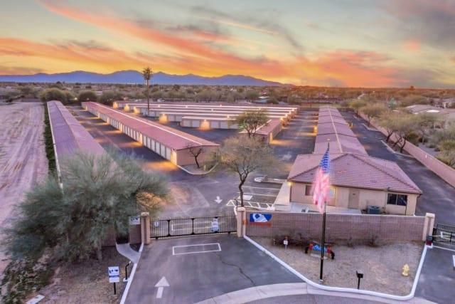 Aerial view of Advantage Storage - Surprise in Surprise, Arizona