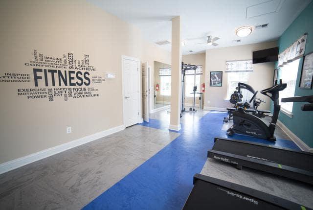 Beautiful fitness center at Riverside Manor in Fredericksburg, VA