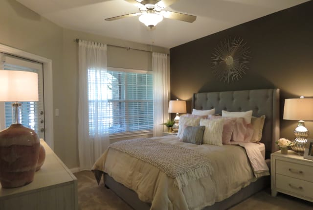 Luxury bedroom at The Abbey at Barker Cypress in Houston, TX