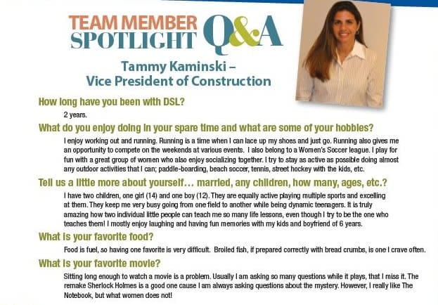 Meet Tammy, Vice President of Construction at Discovery Senior Living in Bonita Springs, Florida