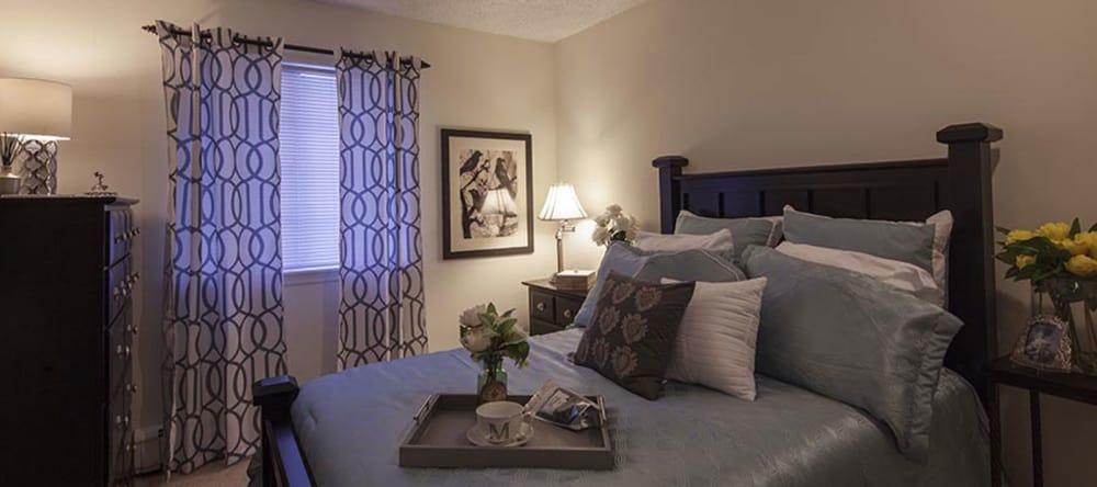 Master bedroom at Waltonwood Carriage Park