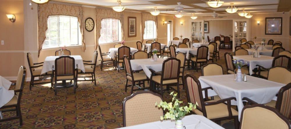 Dining room at Waltonwood Carriage Park