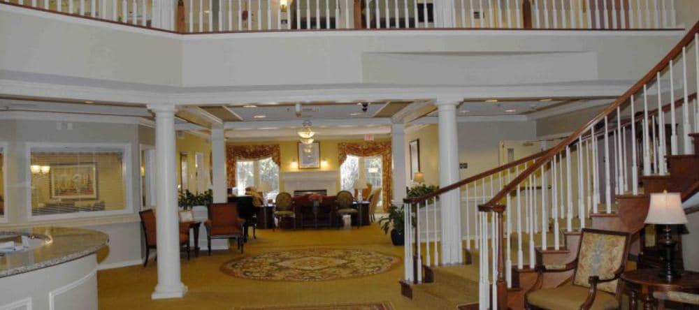 Reception area at Waltonwood Royal Oak independent living facility