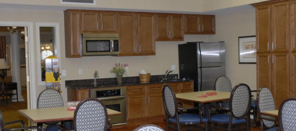 Dining area at our independent living facility in Royal Oak, MI